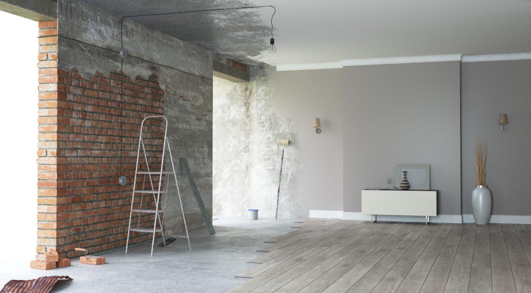 Renovatie van het interieur van een huis